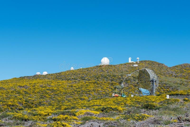 Roque de los Muchachos Обсерватория стоковое фото rf