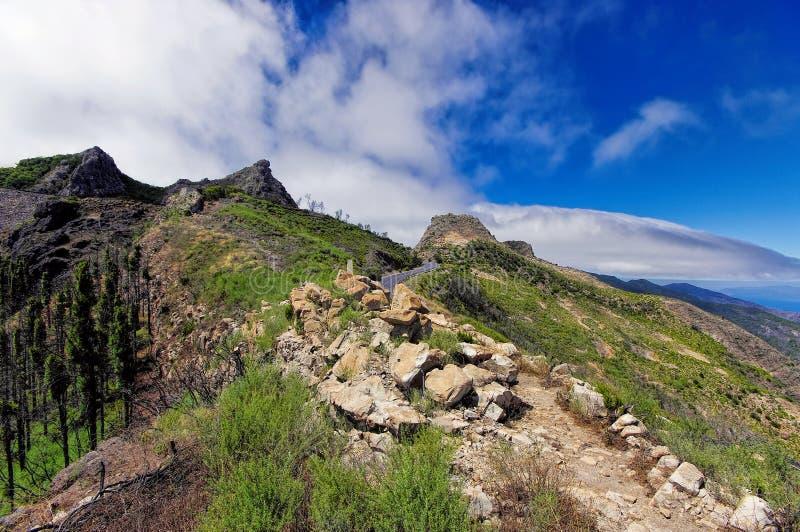 Roque El Cano, La Gomera. La Gomera - Roque El Cano, La Gomera, Canary island, Spain stock image
