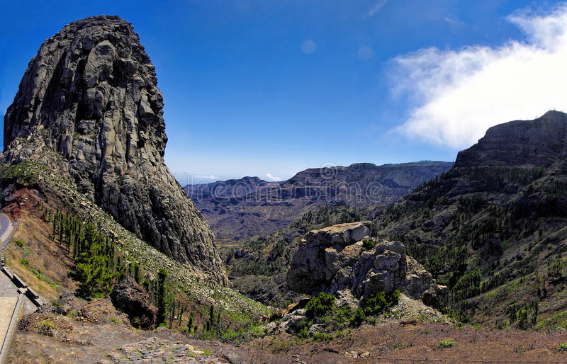 Roque El Cano, La Gomera. La Gomera - Roque El Cano, La Gomera, Canary island, Spain royalty free stock images