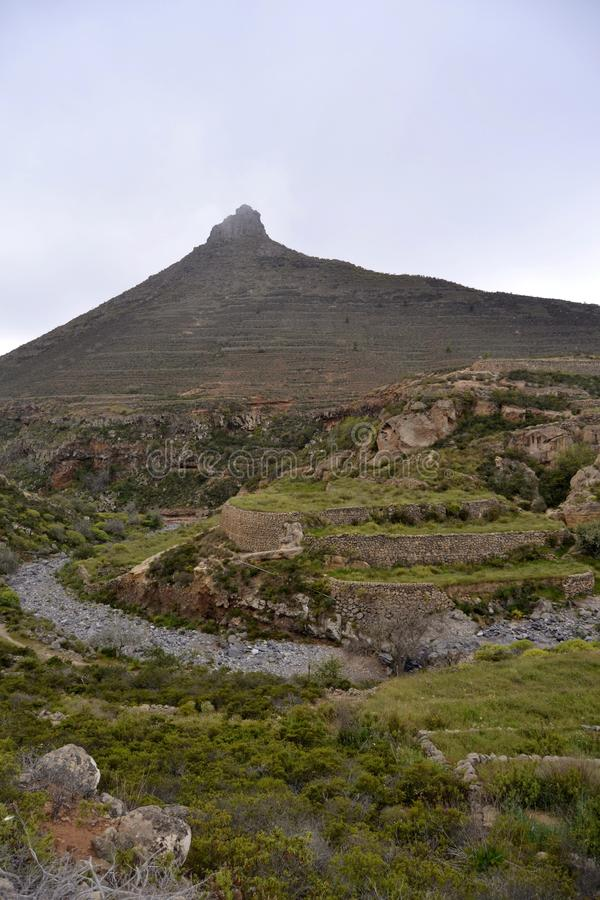 Roque Imoque и Barranco del Rey стоковое фото