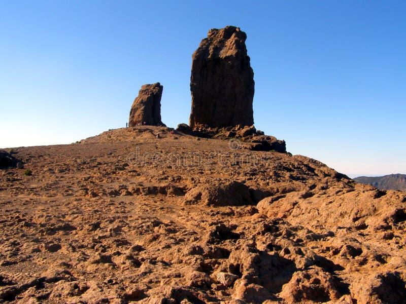 Roque Nublo on Gran Canaria stock images