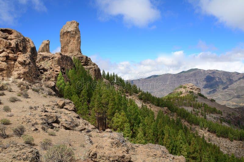Download Roque Nublo peak stock photo. Image of scenic, tranquil - 34313838