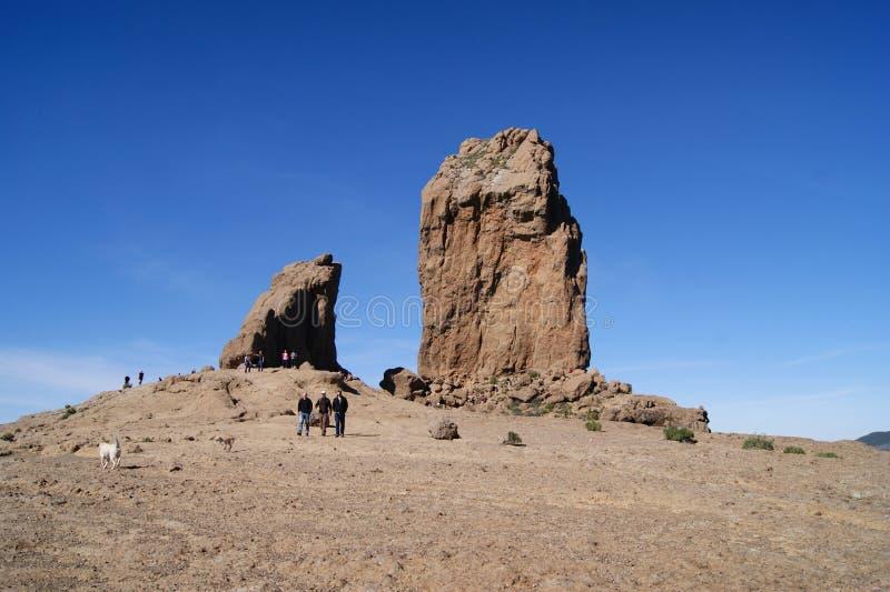 Roque Nublo Rock fotografía de archivo libre de regalías