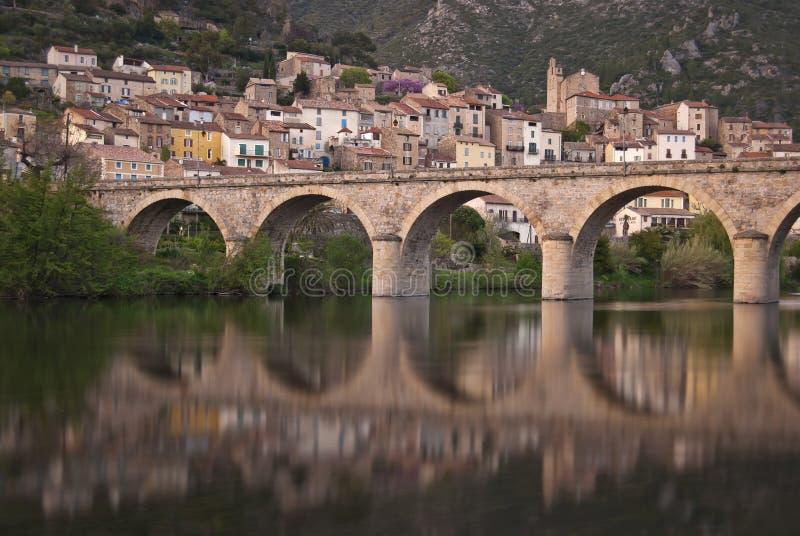 Roquebrun 库存照片