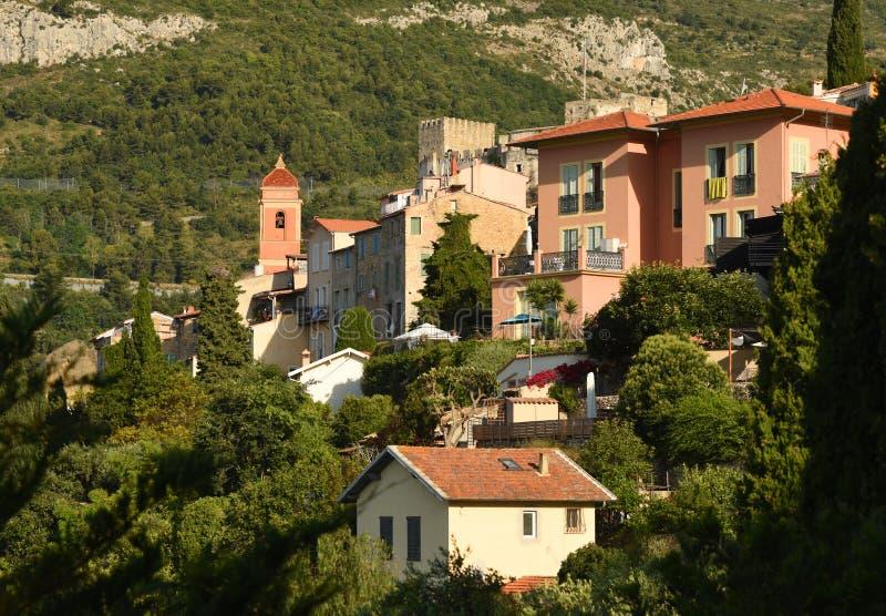 "Roquebrune-ΚΑΠ-Martin, Προβηγκία-Alpes-υπόστεγο δ ""Azur, Γαλλία Υπόστεγο δ ""Azur γαλλικού Riviera στοκ εικόνες"