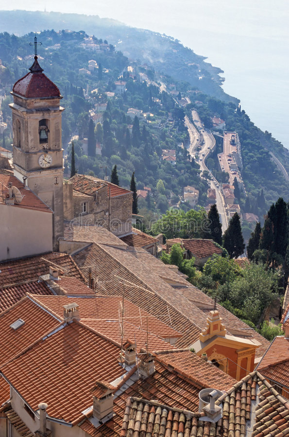 Download Roquebrune stock photo. Image of holiday, unique, view - 1398244