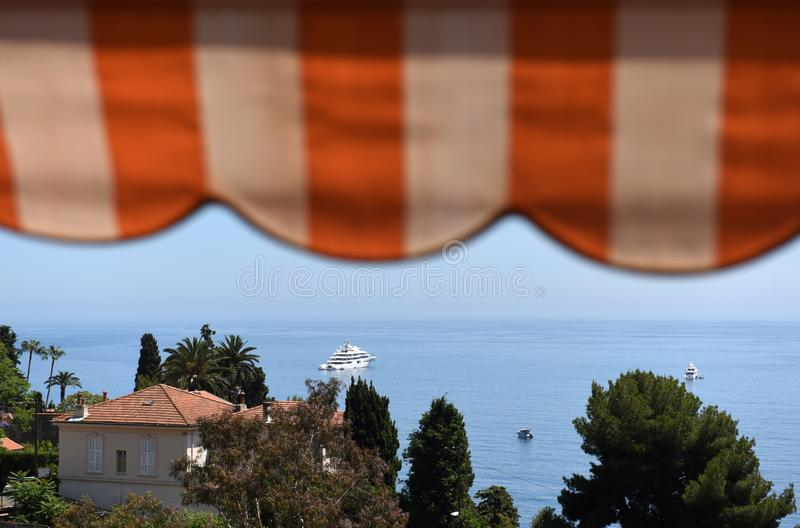 Roquebrune-GLB-Martin, Provence-Alpes-Côte D 'Azur, Frankrijk Kooi D 'Azur van Franse Riviera royalty-vrije stock foto's
