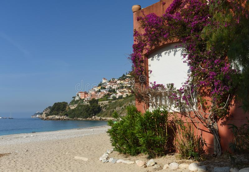 Roquebrune-GLB-Martin, Provence-Alpes-Kooi D 'Azur, Frankrijk Kooi D 'Azur van Franse Riviera royalty-vrije stock foto's