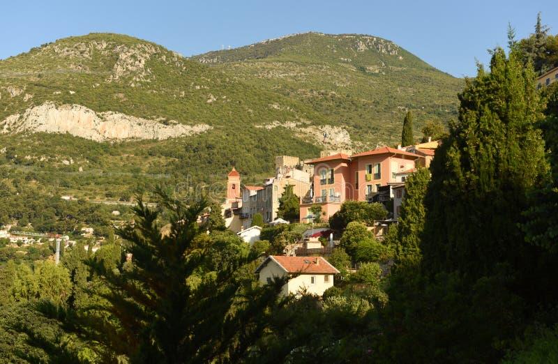 Roquebrune-Kappe-Martin, Provence-Alpes-Taubenschlag d 'Azur, Frankreich Cote d'Azur von französischem Riviera lizenzfreies stockbild