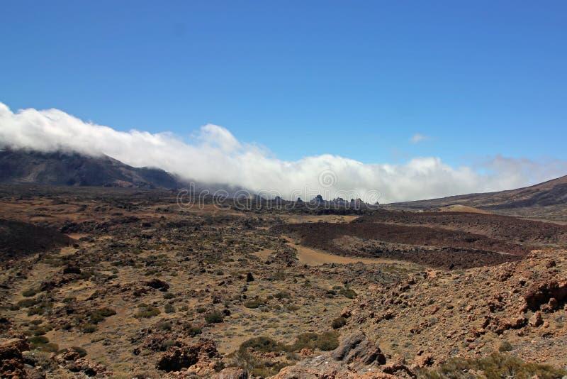 Roques De Garcia i Canadas De Teide wulkan Tenerife, wyspy kanaryjska zdjęcia stock