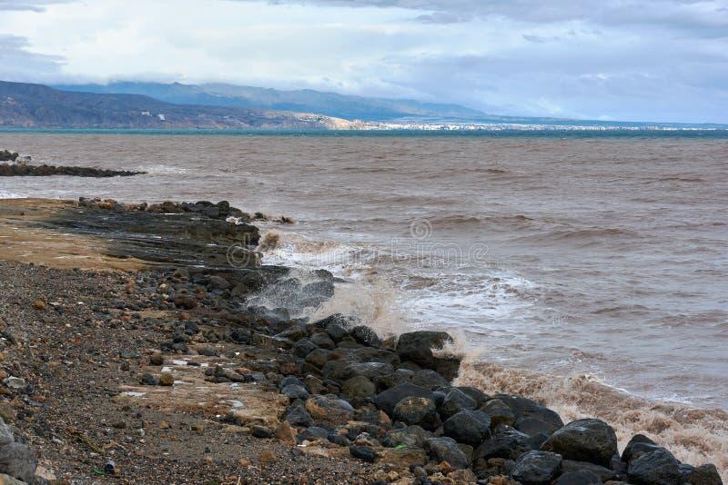 Roquetas DE Mar Stormachtig weer royalty-vrije stock afbeeldingen