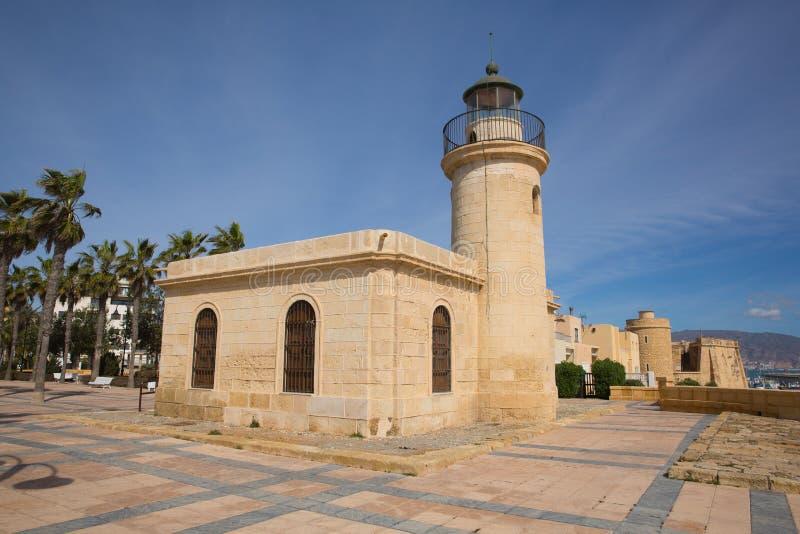 Roquetas del Mar φάρος Ισπανία στοκ εικόνα