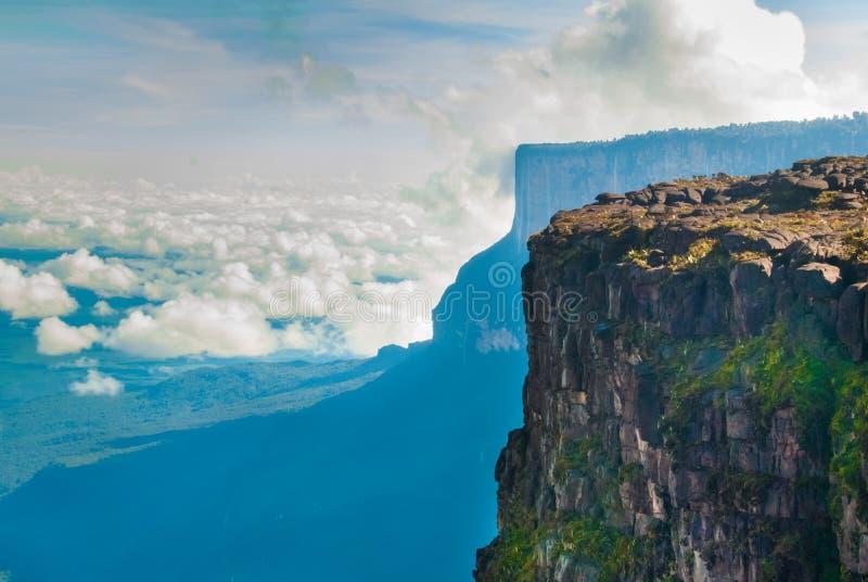Roraima Tepui toppmöte, Gran Sabana, Venezuela arkivfoton