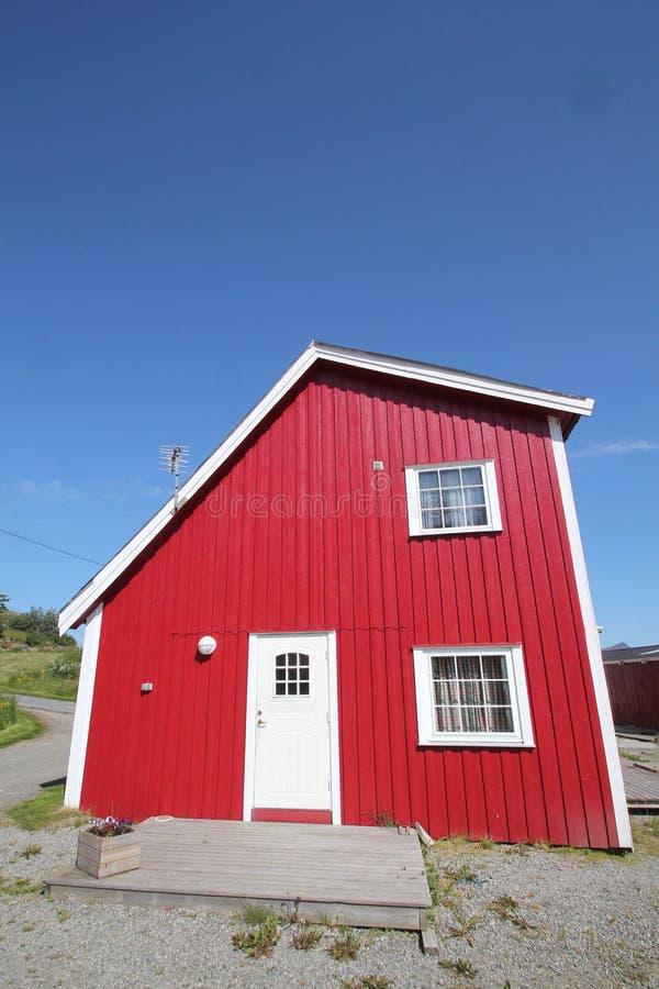Rorbu cabin of Ballstad stock photo