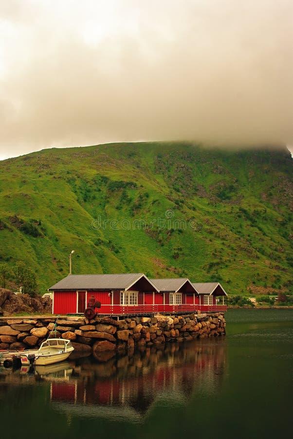 Rorbus. Photo of norwegian fishing huts, r�rbus stock photography