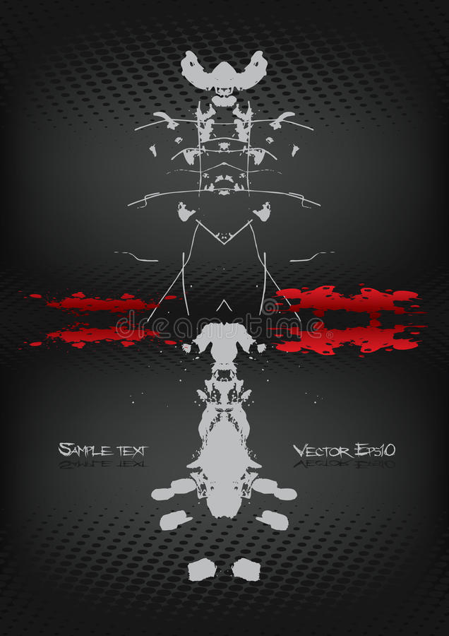 Rorschach background vol. 2. Rorschach background template for multiply use royalty free illustration