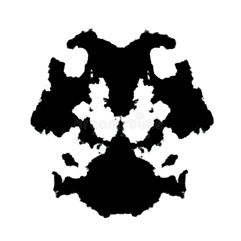 Rorschach Inkblot Stock Illustration. Illustration Of