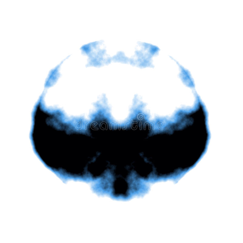 Rorschach inkblot vector illustration