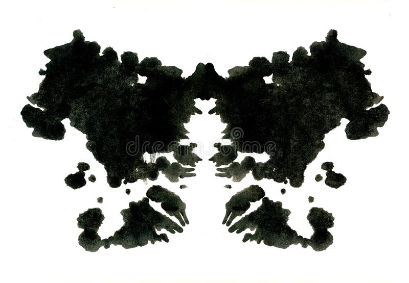 Rorschach inkblot test illustration stock illustration
