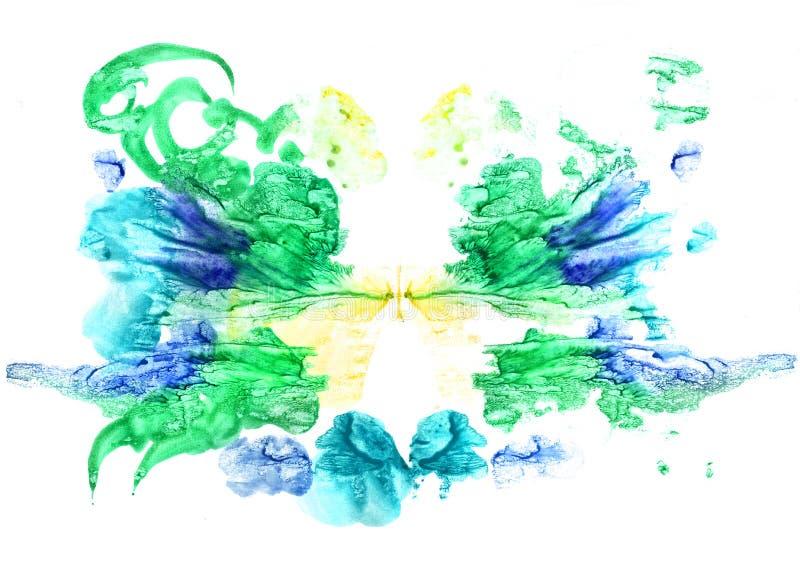 Rorschach inkblot test illustration. Random abstract background stock illustration