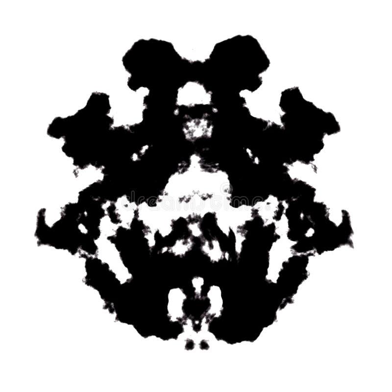 Rorschach-Tintenkleks lizenzfreie abbildung