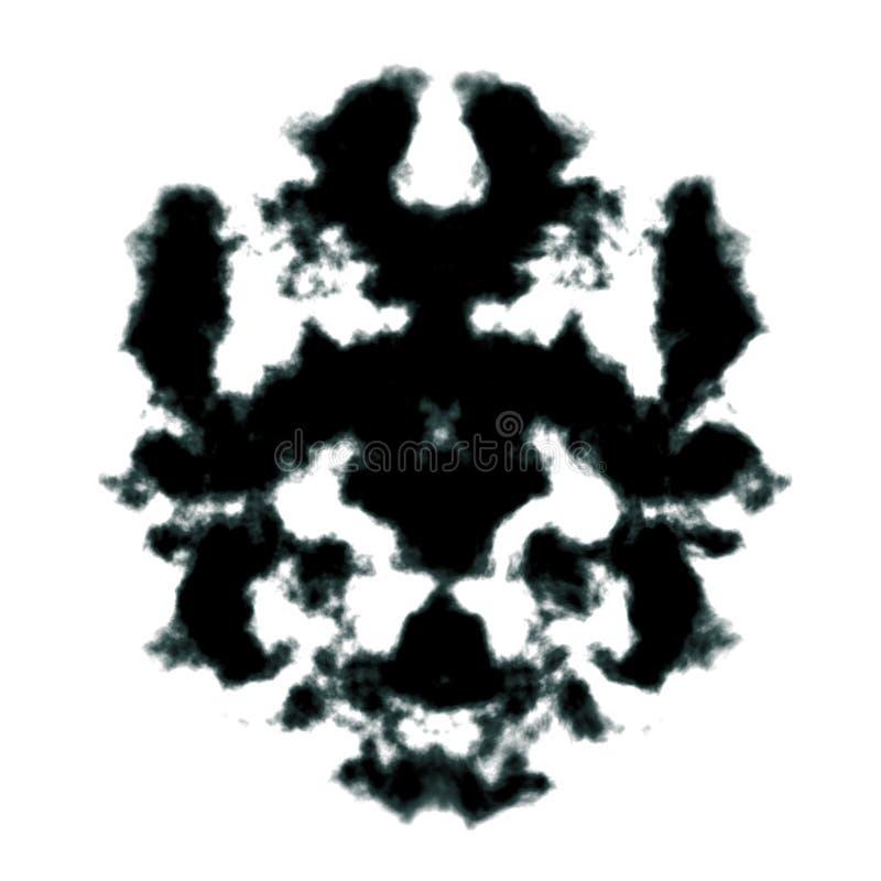 Rorschach Tintenkleks stock abbildung
