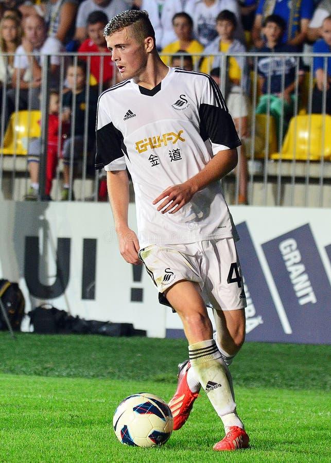 Rory Donnelly dans Petrolul Ploiesti-Swansea FC photo stock