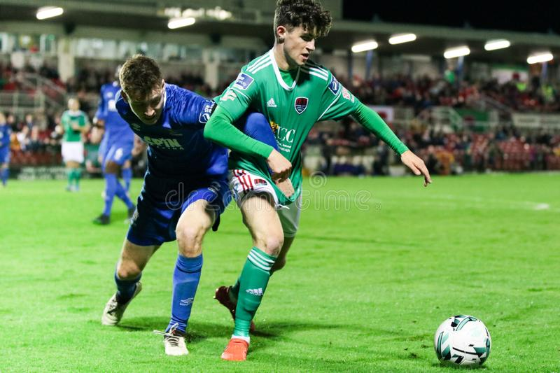 Rory Feely at the League of Ireland Premier Division match: Cork City FC vs Waterford FC. September 2nd, 2019, Cork, Ireland - Rory Feely at the League of royalty free stock images