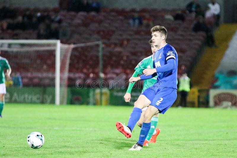 Rory Feely at the League of Ireland Premier Division match: Cork City FC vs Waterford FC. September 2nd, 2019, Cork, Ireland - Rory Feely at the League of royalty free stock photo