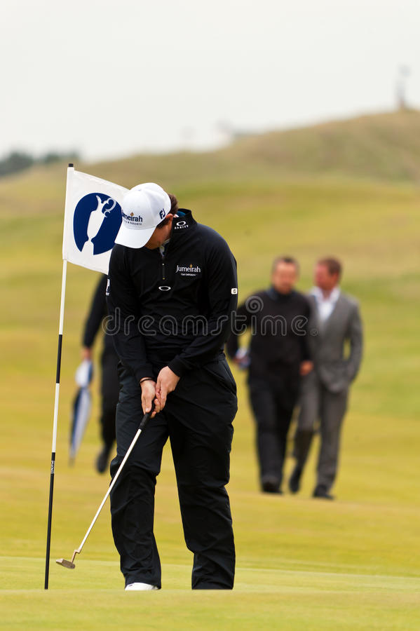 Rory Mcilroy at the 2011 open royalty free stock photos