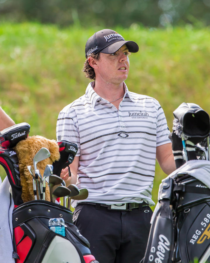 Rory McIlroy at the 2012 Barclays royalty free stock photography