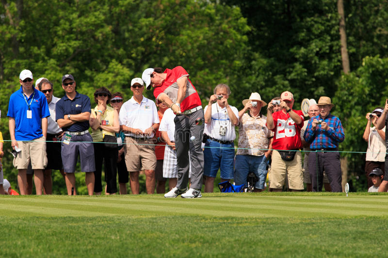 Rory McIlroy at the Memorial. Tournament 2013 in Dublin, Ohio, USA royalty free stock image