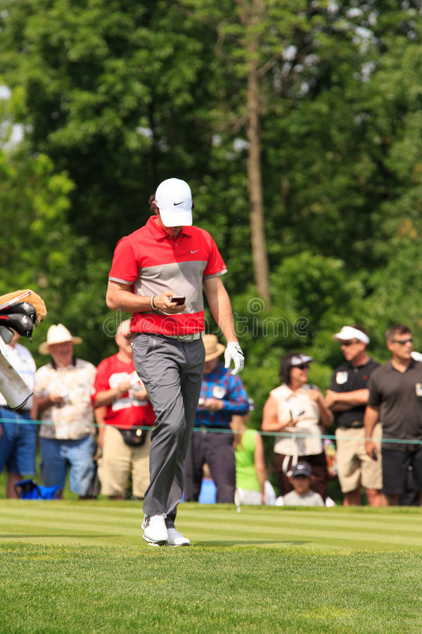 Rory McIlroy. At the Memorial Tournament 2013 in Dublin, Ohio, USA royalty free stock image
