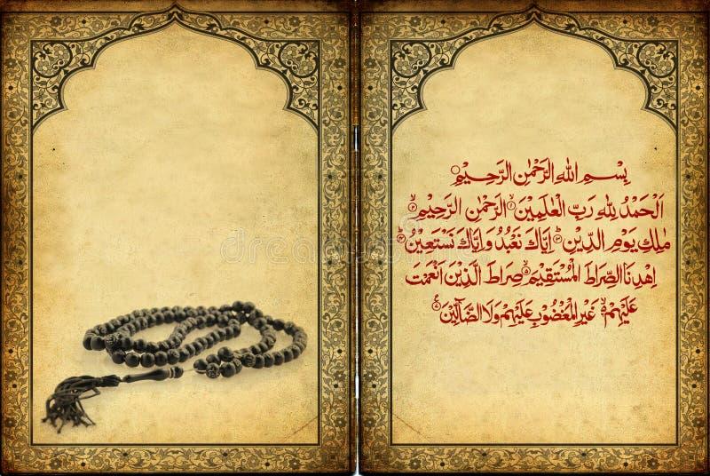 Rosário & sura islâmicos dos ornamento de encontro a um grunge