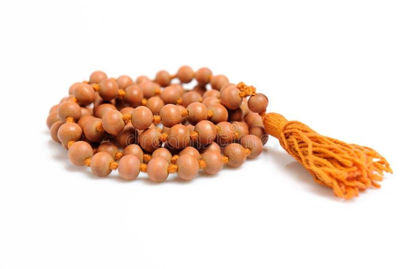 Rosário indiano tradicional para a meditação - mala fotografia de stock