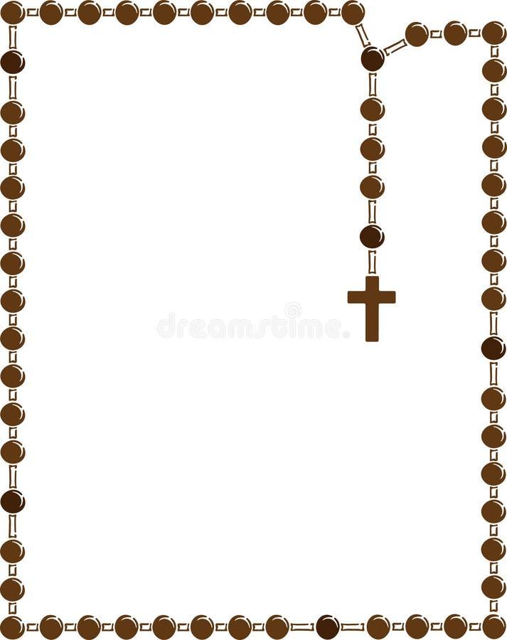 Rosário santamente Quadro de Brown com rosário ilustração do vetor