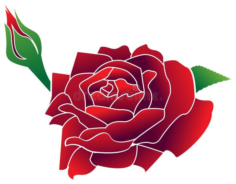 Rosa ilustração stock