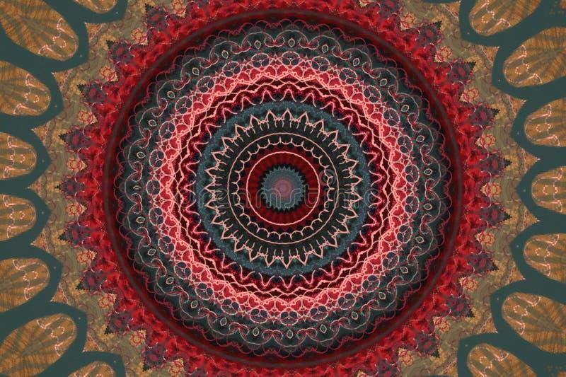 Rosa abstracto circular con el ornamento gris libre illustration