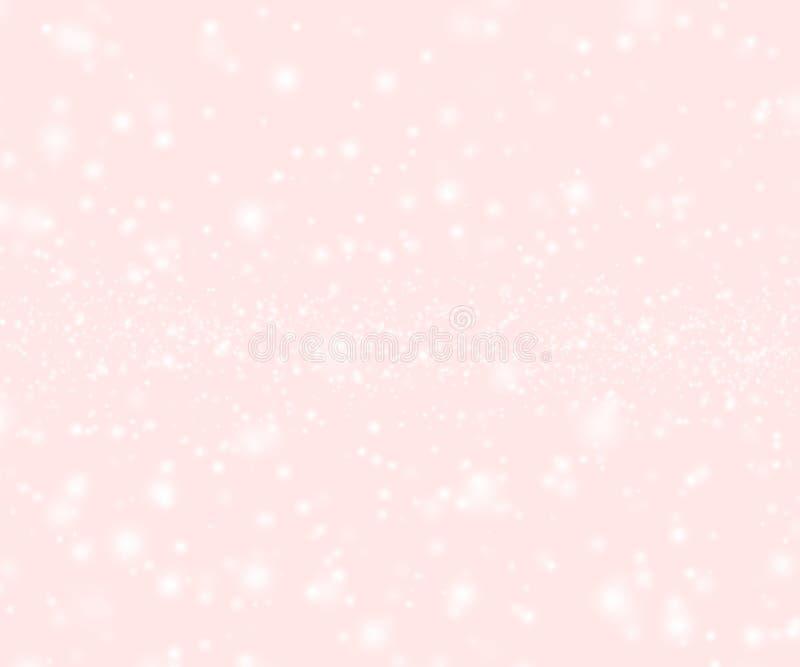 Rosa abstrakt suddighetsbokeh royaltyfri bild