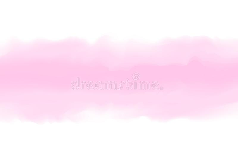 Rosa abstrakter Aquarellhintergrund, bunte Wasserfarbe für rosa Hintergrundkarte oder Fahnenwerbungsentwurf, Aquarellrosa lizenzfreie abbildung