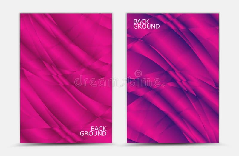 Rosa abstrakter Hintergrundvektor, Abdeckung Schablone, Geschäftsflieger, Netzbeschaffenheit, Grafikdesign stock abbildung