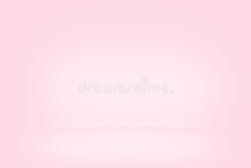 Rosa abstrato lata lisa borrada da parede do inclinação da cor do fundo ilustração do vetor