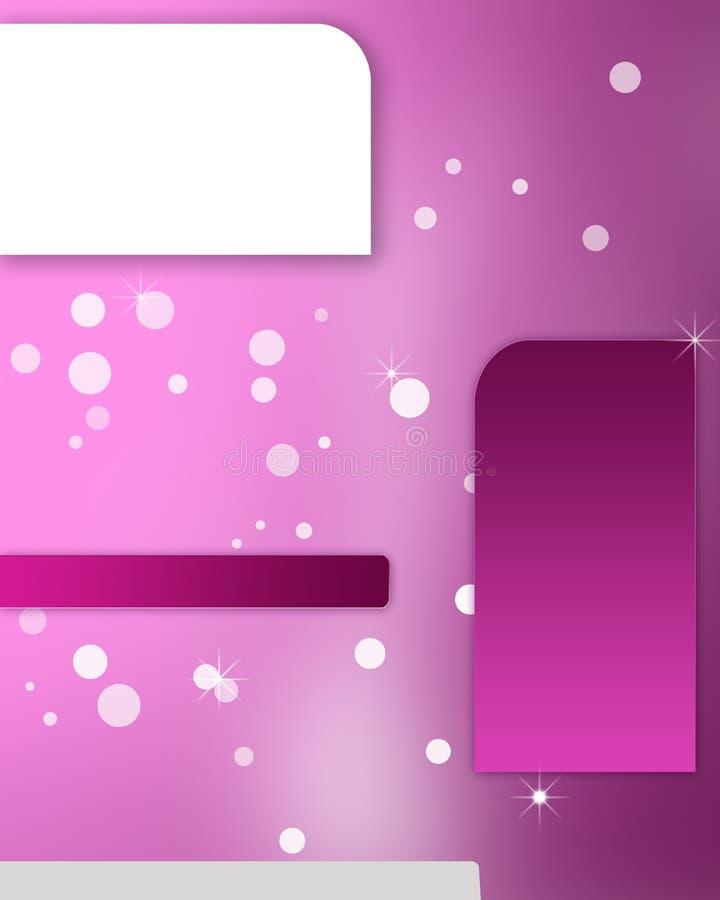 Rosa annons stock illustrationer