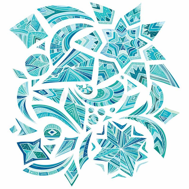 Rosa aztec vinterdesignbeståndsdelar vektor illustrationer
