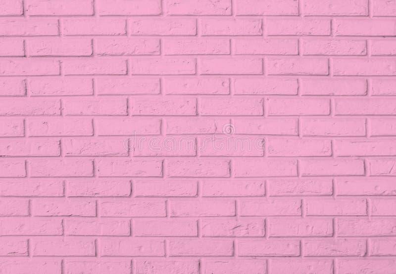 Rosa Backsteinmauermusterhintergrund lizenzfreie stockbilder