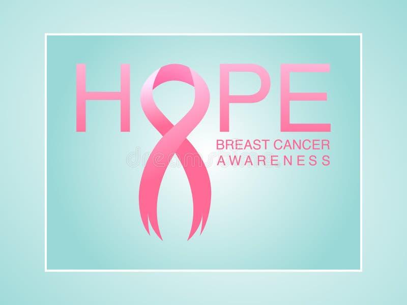 Rosa bakgrund för bandbröstcancermedvetenhet vektor illustrationer