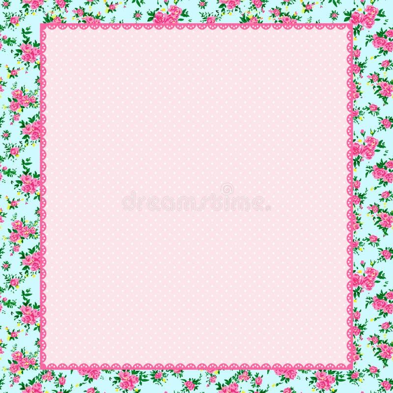 Rosa bakgrund för sjaskig stil stock illustrationer