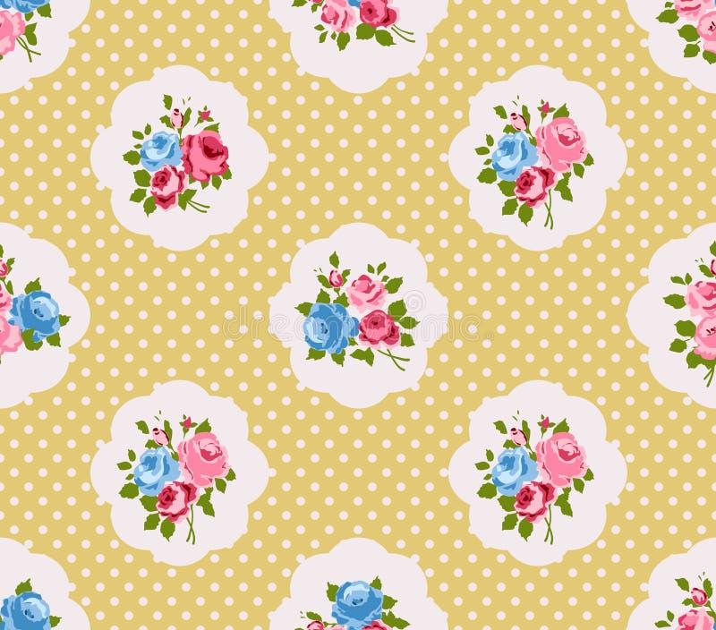 Rosa bakgrund för sjaskig stil royaltyfri illustrationer