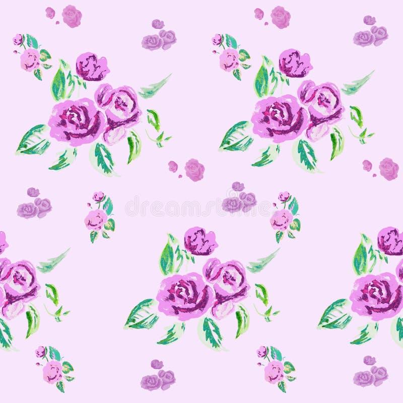 Rosa bakgrund för vattenfärg royaltyfri illustrationer