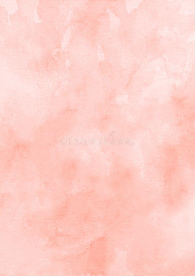 Rosa bakgrund för vattenfärgtexturpapper arkivbilder